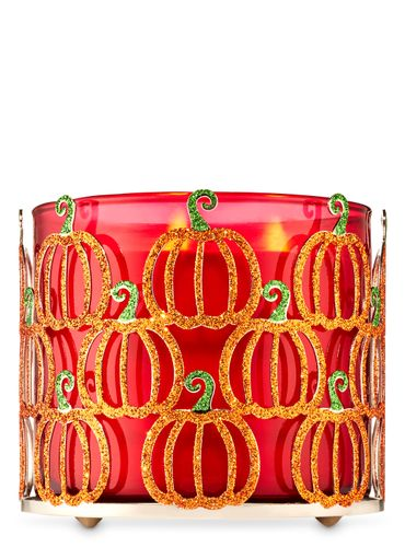 Porta-Vela-Glittery-Pumpkins-Bath-and-Body-Works