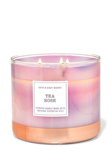 Vela-3-Mechas-Tea-Rose-Bath-Body-Works
