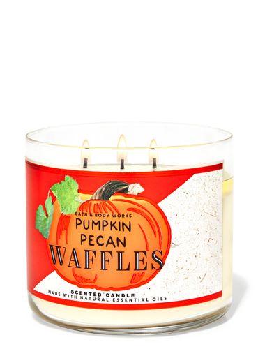 Vela-3-Mechas-Pumpkin-Pecan-Waffles-Bath-Body-Works