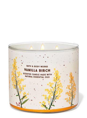 Vela-3-Mechas-Vanilla-Birch-Bath-Body-Works