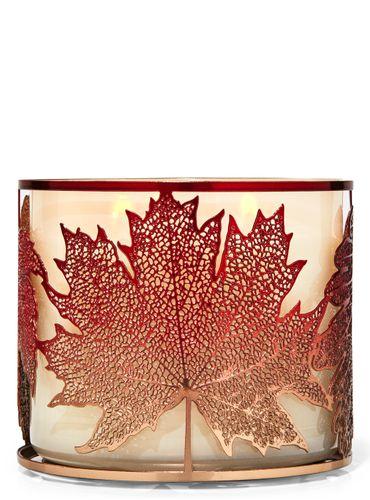 Porta-Vela-Ombre-Maple-Leaves-Bath-Body-Works