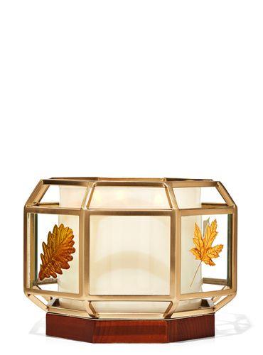 Porta-Vela-Glass-Geometric-Fall-Bath-Body-Works